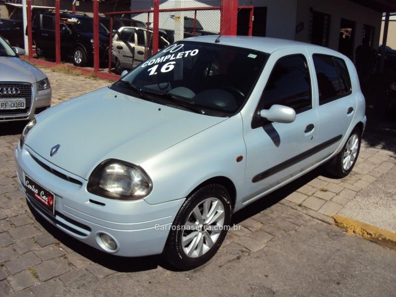 clio 1.6 rt 8v gasolina 4p manual 2000 caxias do sul