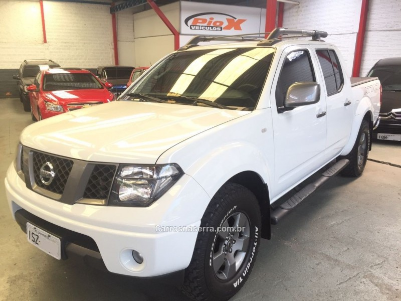 frontier 2.5 se attack 4x4 cd turbo eletronic diesel 4p manual 2013 caxias do sul