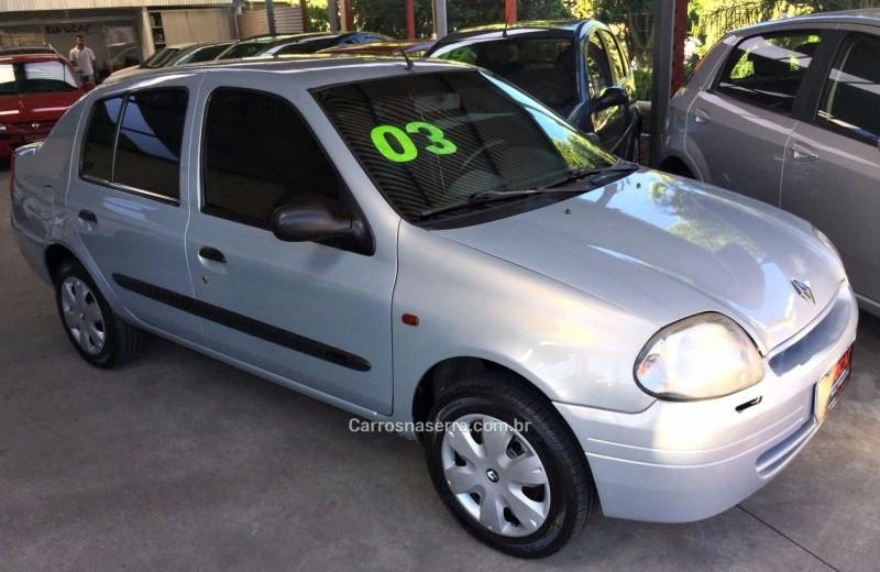 clio 1.0 rn sedan 16v gasolina 4p manual 2003 caxias do sul