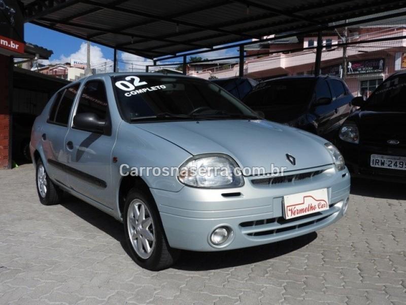 clio 1.0 rt sedan 16v gasolina 4p manual 2002 caxias do sul