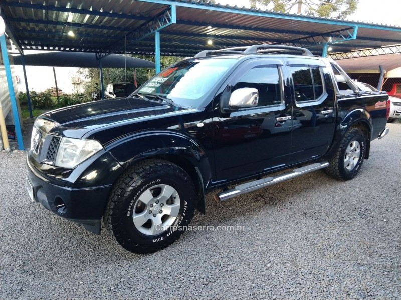 frontier 2.5 sel 4x4 cd turbo eletronic diesel 4p automatico 2008 canela