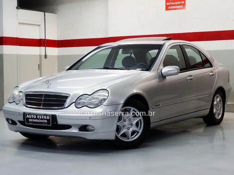 c 180 1.8 classic plus gasolina 4p automatico 2001 caxias do sul
