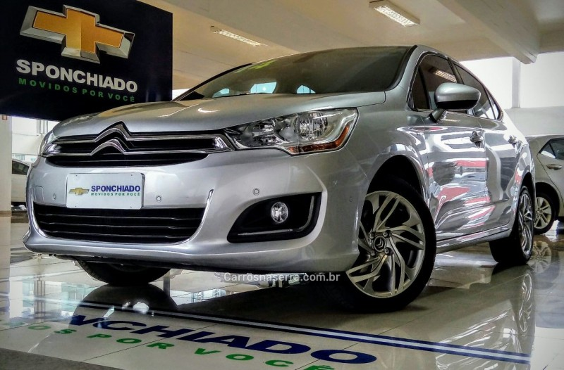 c4 lounge 1.6 exclusive 16v turbo gasolina 4p automatico 2014 caxias do sul