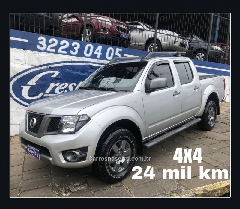 frontier 2.5 se attack 4x4 cd turbo eletronic diesel 4p manual 2015 caxias do sul