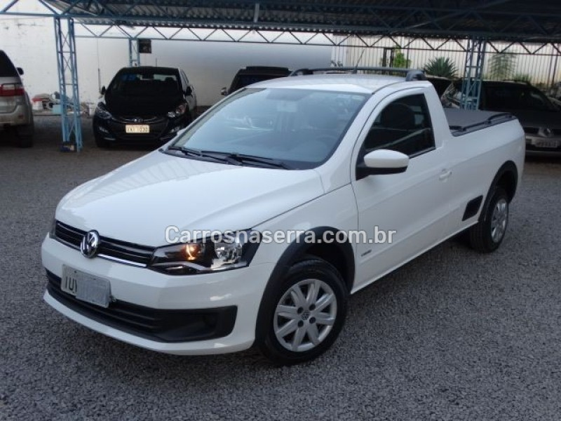 saveiro 1.6 mi cs 8v flex 2p manual g.vi 2014 nova prata