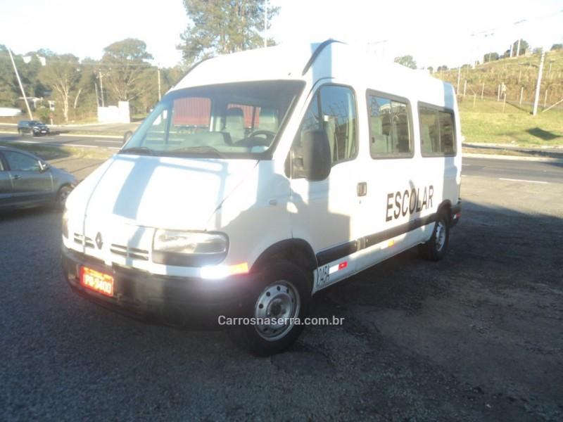 master 2.5 dci minibus l2h2 16 lugares 16v diesel 3p manual 2009 farroupilha