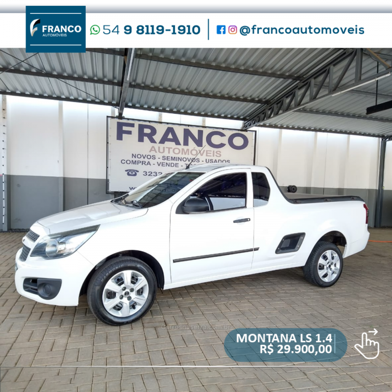 montana 1.4 mpfi ls cs 8v flex 2p manual 2013 vacaria