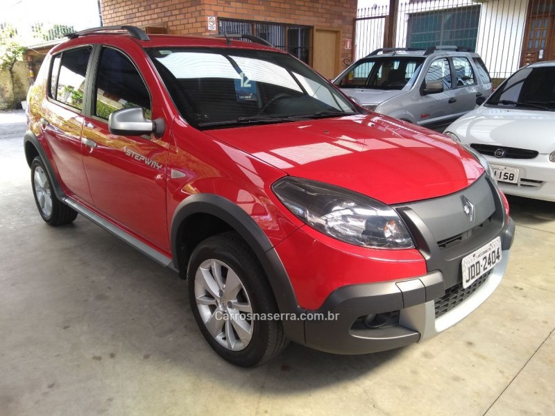 sandero 1.6 stepway 8v flex 4p manual 2012 garibaldi