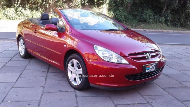307 2.0 cc 16v gasolina 2p automatico 2005 caxias do sul