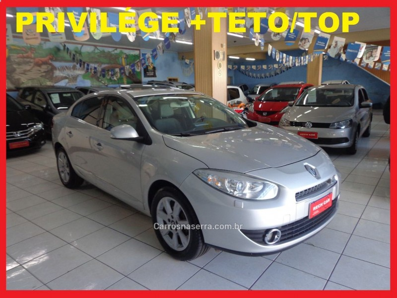 fluence 2.0 privilege 16v flex 4p automatico 2011 caxias do sul
