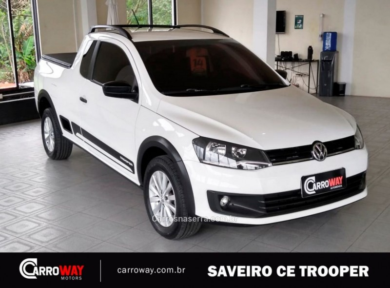 saveiro 1.6 mi trooper ce 8v flex 2p manual g.vi 2014 feliz