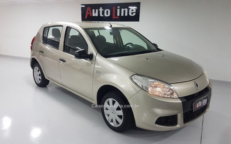 sandero 1.0 authentique 16v flex 4p manual 2013 bento goncalves
