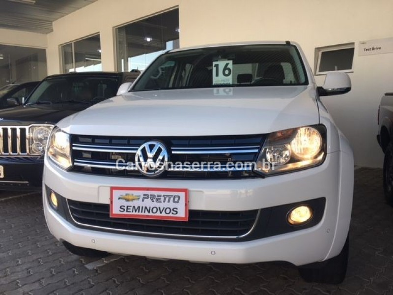 amarok 2.0 highline 4x4 cd 16v turbo intercooler diesel 4p automatico 2016 encantado