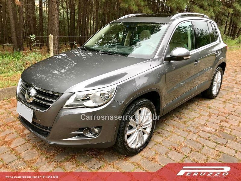tiguan 2.0 tsi 16v turbo gasolina 4p tiptronic 2011 nova prata