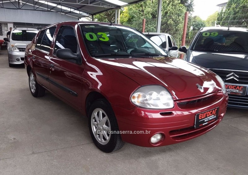 clio 1.0 rt sedan 16v gasolina 4p manual 2003 caxias do sul
