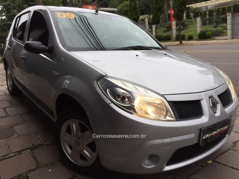 sandero 1.6 expression 8v flex 4p manual 2009 caxias do sul