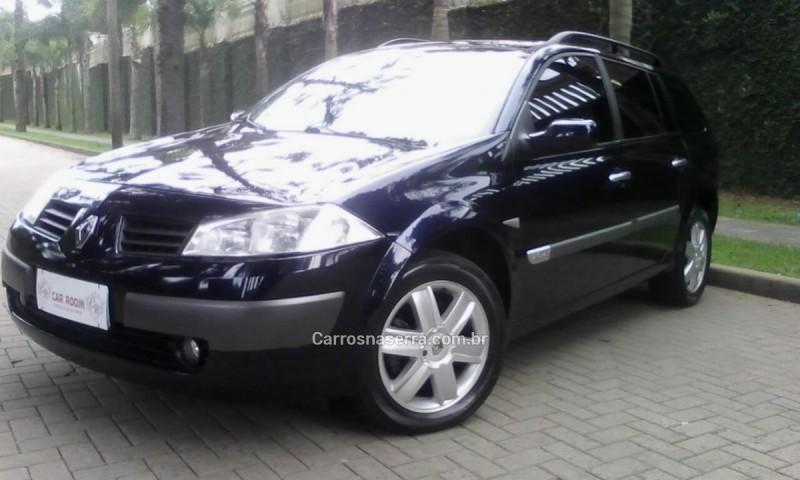 megane 2.0 dynamique grand tour 16v gasolina 4p manual 2008 caxias do sul