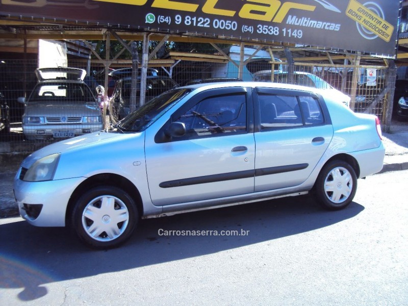 clio 1.0 authentique sedan 16v flex 4p manual 2007 caxias do sul