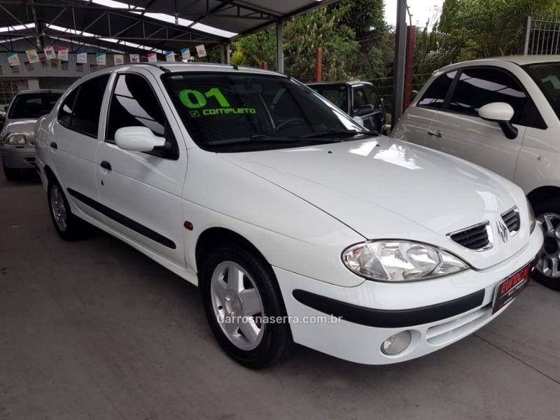 megane 2.0 rxe sedan 16v gasolina 4p manual 2001 caxias do sul