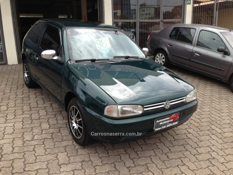 gol 1.0 mi 8v gasolina 2p manual 1998 caxias do sul