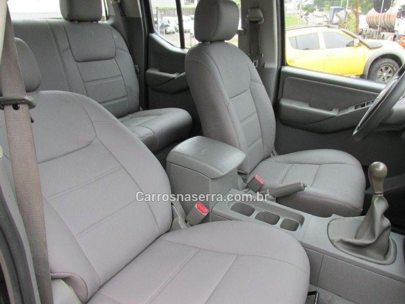 frontier 2.5 xe 4x2 cd turbo eletronic diesel 4p manual 2010 bento goncalves
