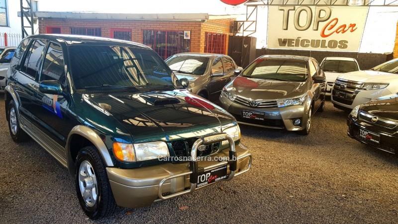 sportage 2.0 dlx 4x4 turbo intercooler diesel 4p manual 2001 caxias do sul