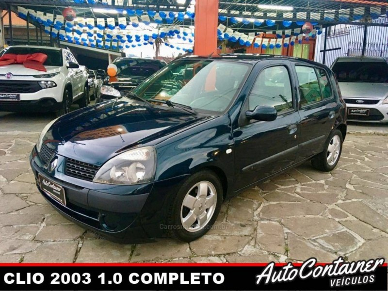 clio 1.0 privilege 16v gasolina 4p manual 2003 caxias do sul
