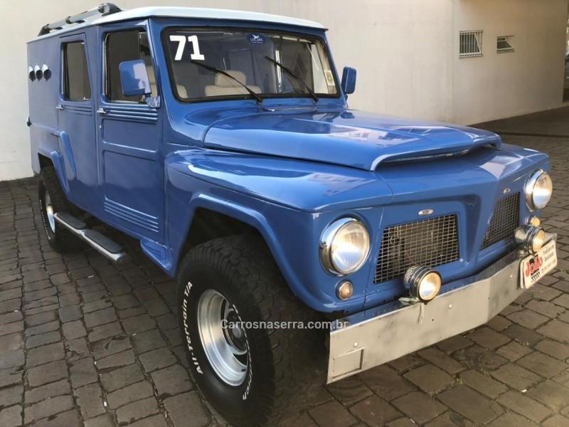 RURAL 3.0 LUXO 4X2 6 CILINDROS 12V GASOLINA 2P MANUAL - 1971 - CASCA