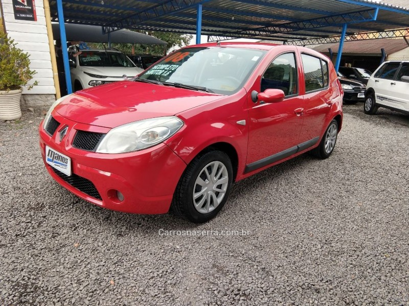 sandero 1.6 privilege 8v flex 4p manual 2008 canela