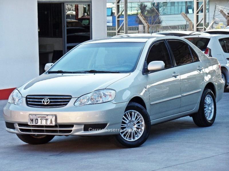 corolla 1.6 xli 16v gasolina 4p manual 2004 caxias do sul