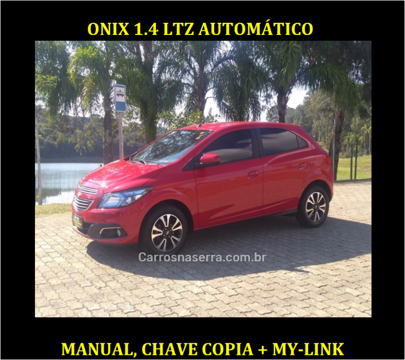 onix 1.4 mpfi ltz 8v flex 4p automatico 2014 caxias do sul