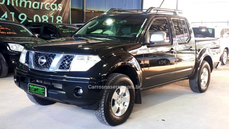 frontier 2.5 le 4x4 cd turbo eletronic diesel 4p manual 2011 caxias do sul