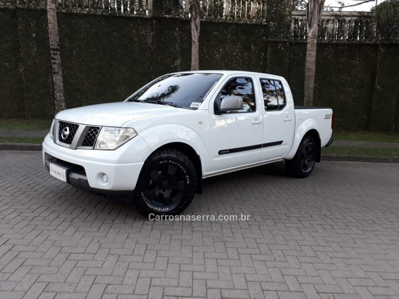 frontier 2.5 xe 4x4 cd turbo eletronic diesel 4p manual 2010 caxias do sul