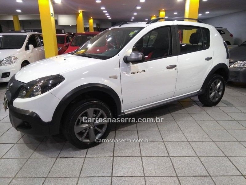 sandero 1.6 sl stepway rip curl 16v flex 4p manual 2012 caxias do sul
