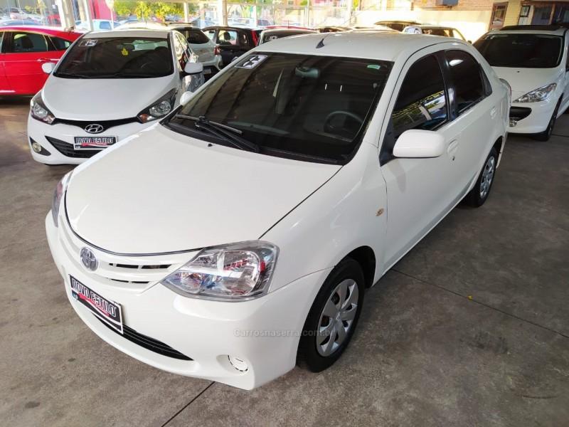 etios 1.5 xs sedan 16v flex 4p manual 2013 caxias do sul