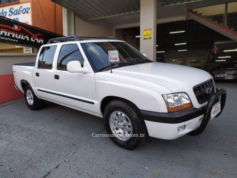s10 2.8 4x4 cd 12v turbo intercooler diesel 4p manual 2002 caxias do sul