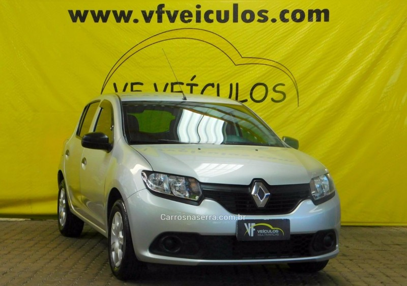 sandero 1.0 authentique 16v flex 4p manual 2015 caxias do sul