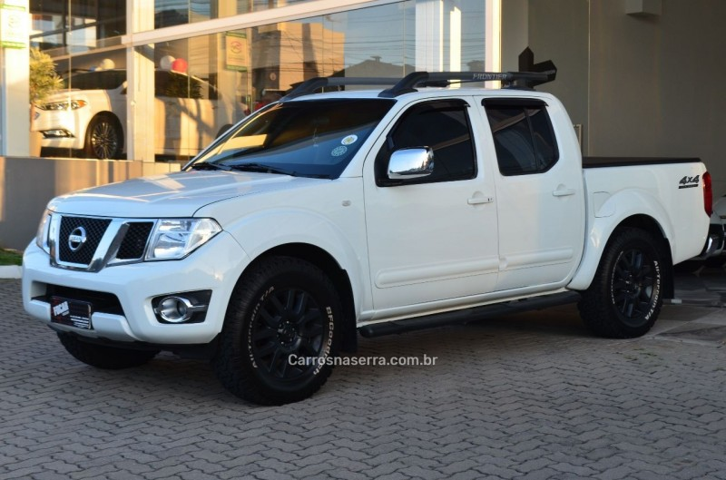 frontier 2.5 sl 4x4 cd turbo eletronic diesel 4p automatico 2015 caxias do sul