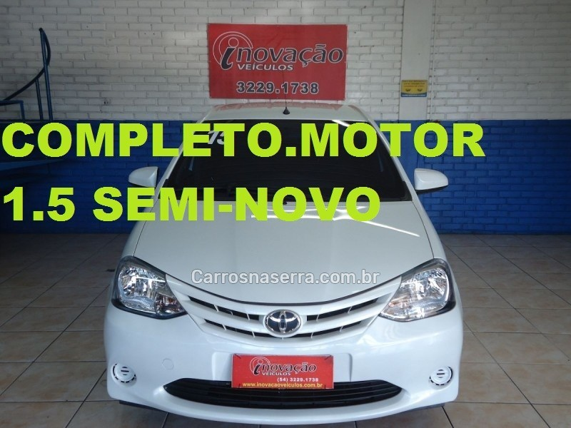 etios 1.5 x sedan 16v flex 4p manual 2015 caxias do sul