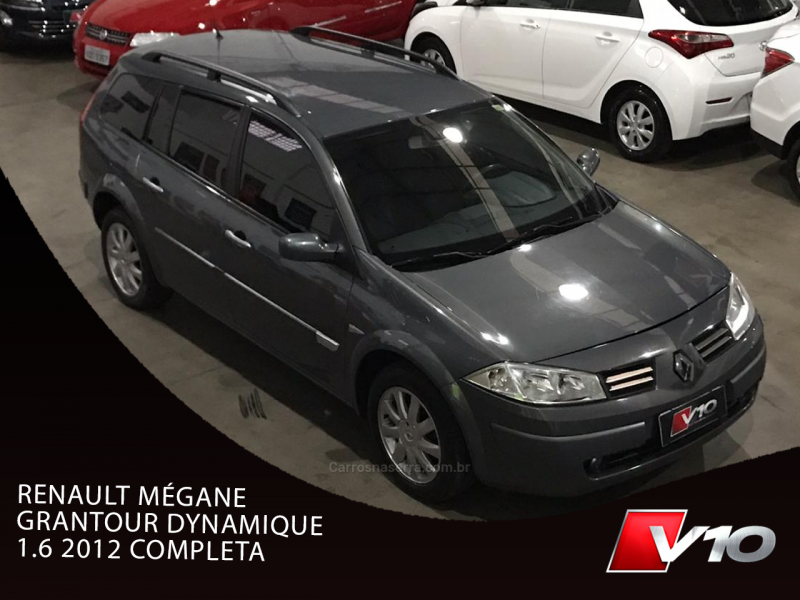 megane 1.6 dynamique grand tour 16v flex 4p manual 2012 caxias do sul