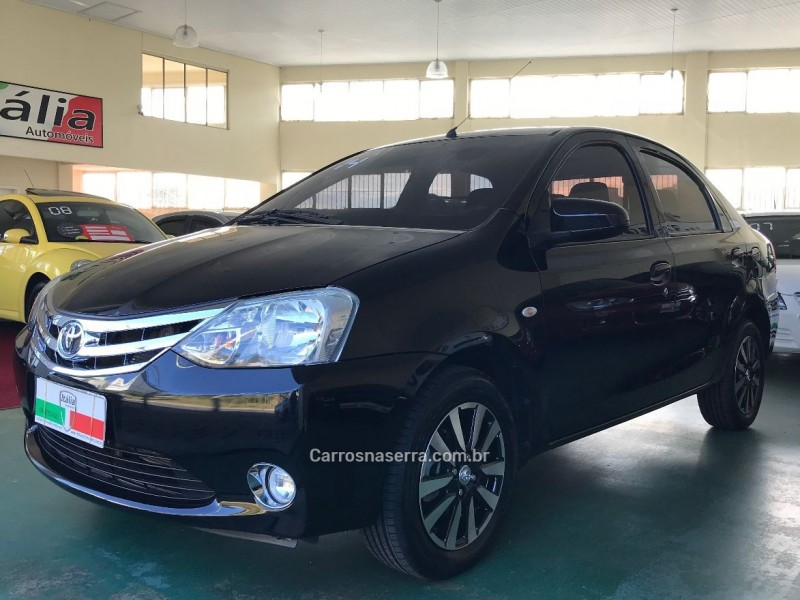 etios 1.5 platinum sedan 16v flex 4p manual 2014 caxias do sul
