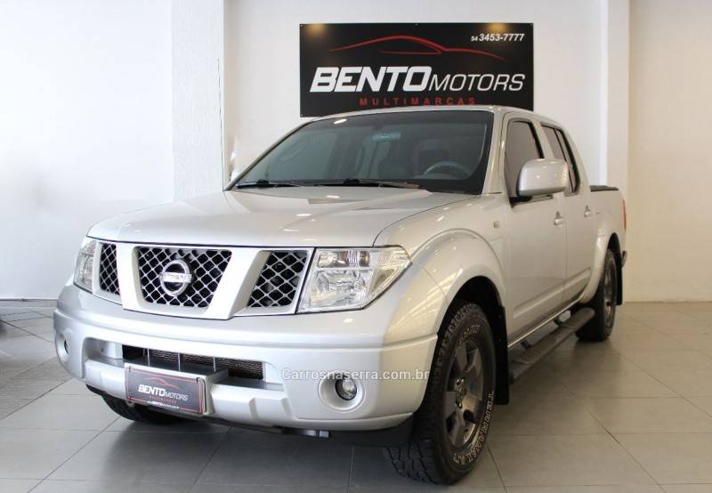 frontier 2.5 xe 4x2 cd turbo eletronic diesel 4p manual 2009 bento goncalves