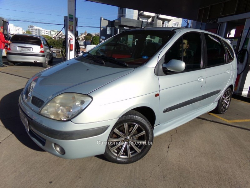 scenic 1.6 rt 16v gasolina 4p manual 2002 caxias do sul