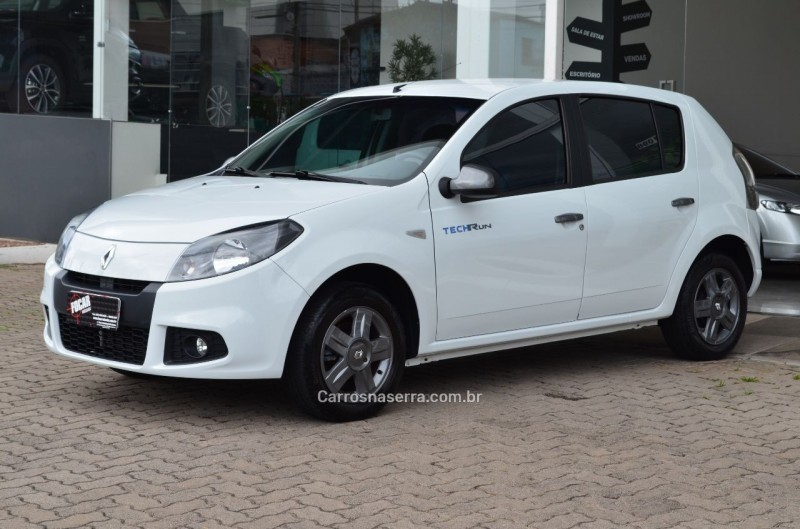 sandero 1.0 tech run 16v flex 4p manual 2014 caxias do sul
