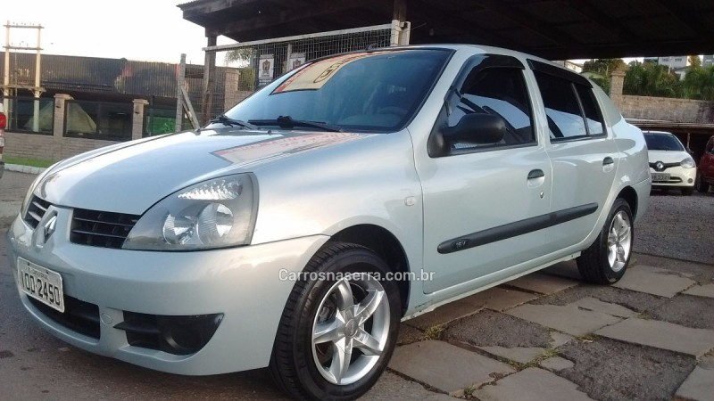 clio 1.0 authentique sedan 16v flex 4p manual 2008 caxias do sul