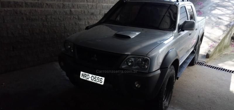 l200 savana 2.5 4x4 cd 8v turbo diesel 4p manual 2012 nova prata