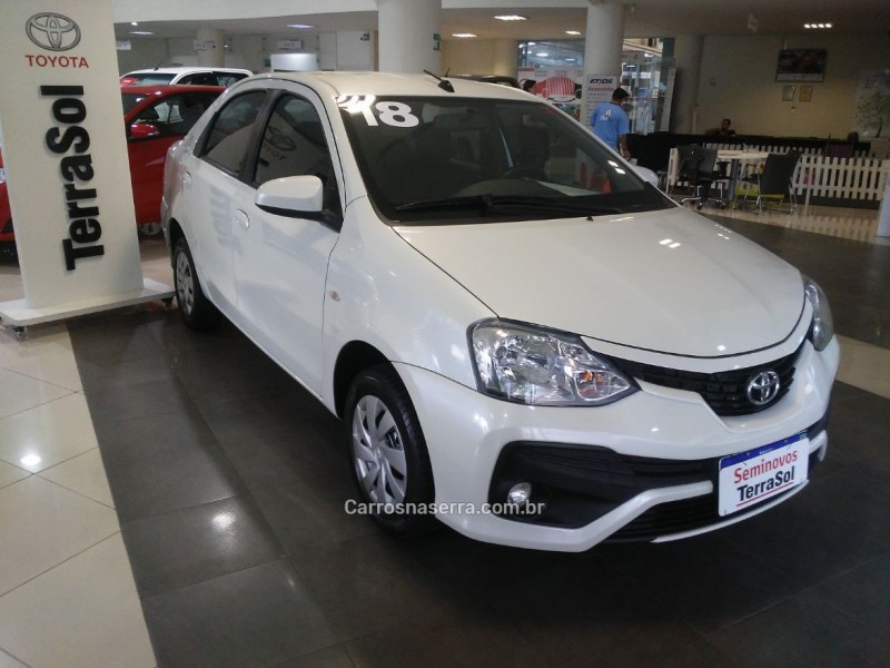 etios 1.5 xs sedan 16v flex 4p manual 2018 caxias do sul