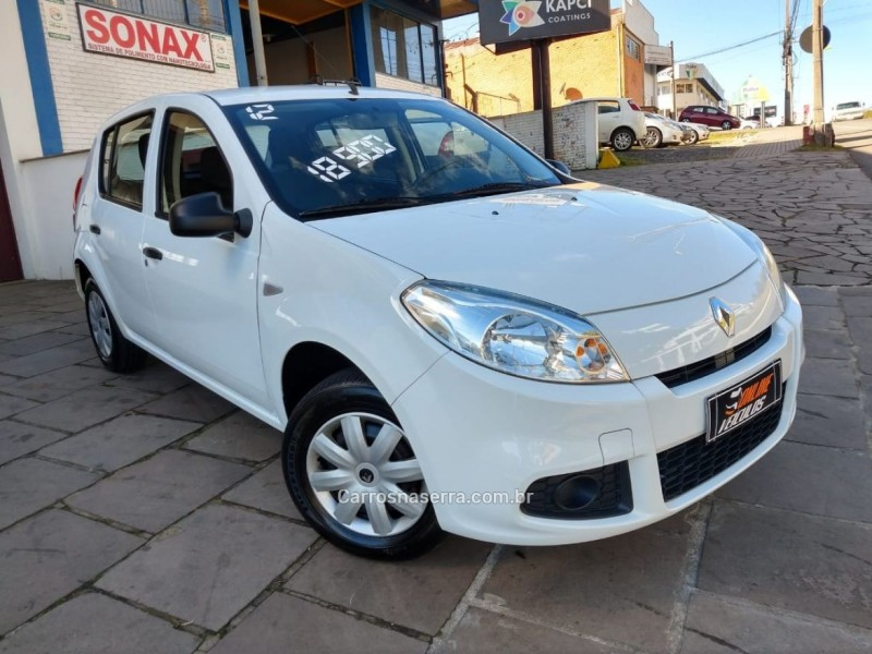sandero 1.0 authentique 16v flex 4p manual 2012 caxias do sul