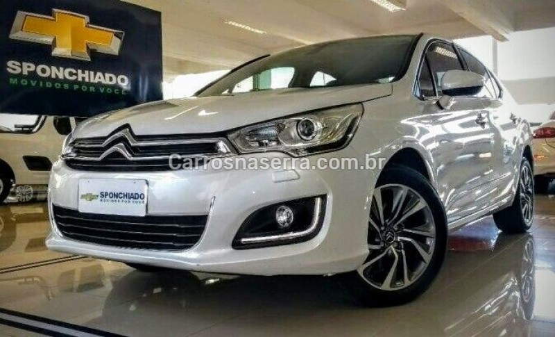 c4 lounge 1.6 exclusive 16v turbo flex 4p automatico 2017 caxias do sul