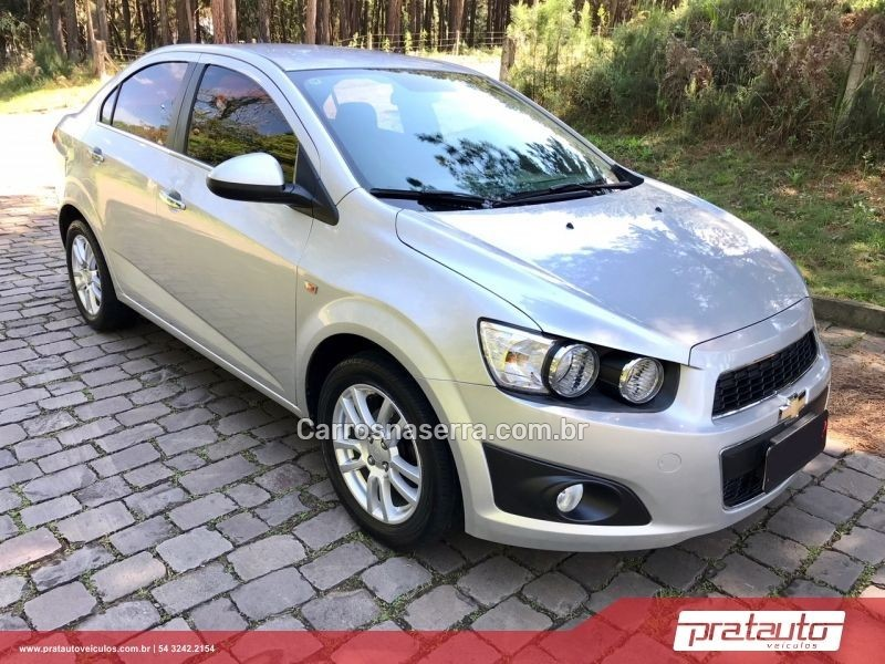 SONIC 1.6 LTZ SEDAN 16V FLEX 4P AUTOMÁTICO - 2014 - NOVA PRATA